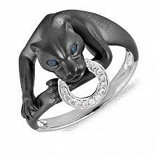 Кольцо Пантера из комбинированного золота с бриллиантами в стиле Картье