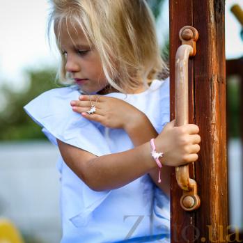 Детский плетеный браслет Единорог с эмалью и фианитом,15-15см 000080616