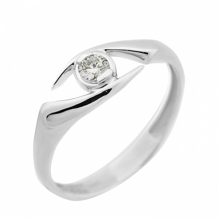 Кольцо из белого золота Мунисэ с бриллиантом VLA--13589