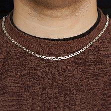 Серебряная цепь Вилфорд в классическом якорном плетении, 4,5мм