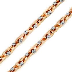 Золотая цепь Baraka Лаврион в комбинированном цвете с бриллиантом