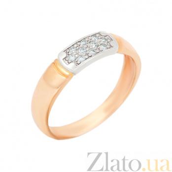 Золотое обручальное кольцо Вселенная в комбинированном цвете с бриллиантами VLA--12750