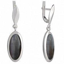 Серебряные серьги Мрия с улекситом