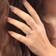Серебряное кольцо Вечное чувство с цирконием SWAROVSKI ZIRCONIA