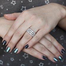 Серебряное кольцо Маделин с фианитами