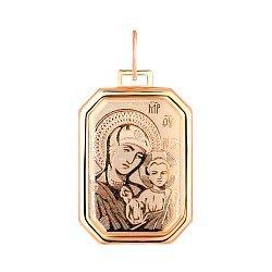 Ладанка из красного золота Богоматерь с Иисусом Христом 000133279