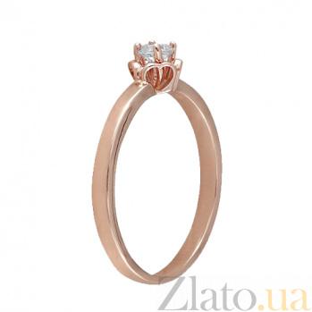 Золотое кольцо с фианитом Кальяри 000022922