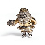 Статуэтка из серебра с позолотой  Веселый Санта