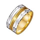 Золотое обручальное кольцо Правильный акцент