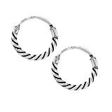 Серебряные серьги-кольца Ромэн