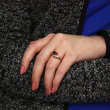 Золотое кольцо Отсчет с рубином, сапфиром, изумрудом и бриллиантами