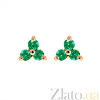 Золотые серьги с изумрудами Хлоя ZMX--EE-6561_K