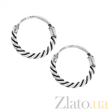 Серебряные серьги-кольца Ромэн SLX--С5/327