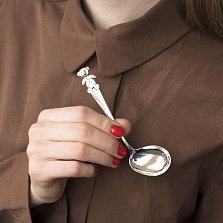 Серебряная ложка Мишутка с чернением