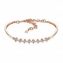 Браслет из красного золота с кристаллами Swarovski  000132832