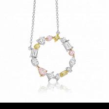 Колье Argile с бриллиантами, желтыми и розовыми сапфирами
