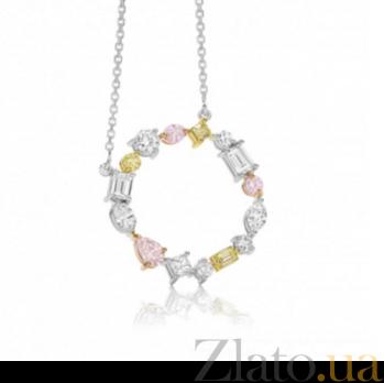 Колье Argile с бриллиантами, желтыми и розовыми сапфирами N-cjAr-W-6s-9d