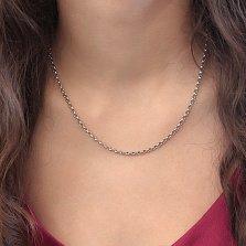 Серебряная цепочка Виорика с плетением Ролло, 3,5мм