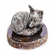 Серебряная статуэтка Лисица