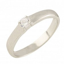Серебряное кольцо Дейзи с фианитом