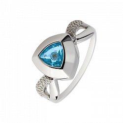 Золотое кольцо с топазом и плавающими бриллиантами Энджи