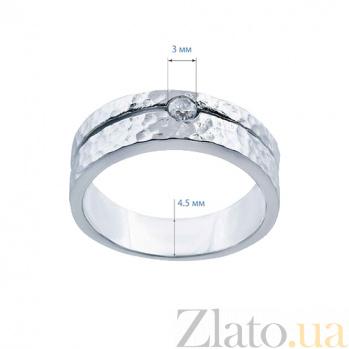Серебряное кольцо с фианитом История любви AQA--211550032