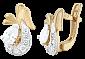 Позолоченные серебряные серьги с цирконием Берфане SLX--С3Ф/098