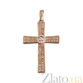 Золотой крестик с бриллиантами Сияние дня 1П759-0136