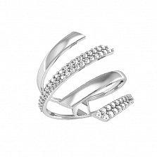 Кольцо из белого золота Алира с фианитами