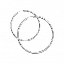 Серьги-кольца Олимпия в белом золоте, 20мм