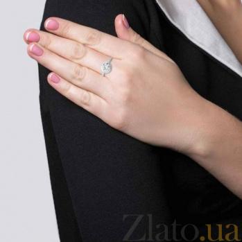 Серебряное кольцо с цирконом на помолвку AQA--XJR-0192