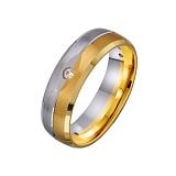 Золотое обручальное кольцо Искренняя любовь с фианитами