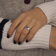 Обручальное кольцо Дивный сон из белого золота с сапфиром