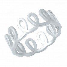 Серебряное кольцо Петельки