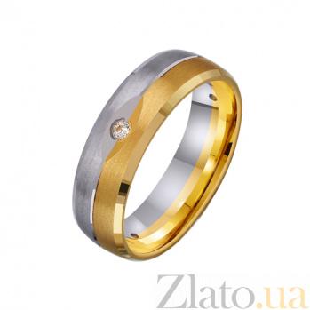 Золотое обручальное кольцо Искренняя любовь с фианитами TRF--452734