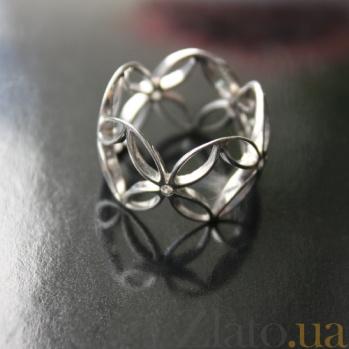Серебряное кольцо с цирконием Pattern 000029267