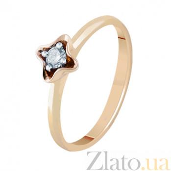 Золотое кольцо с бриллиантом Оливия KBL--К1014/крас/брил