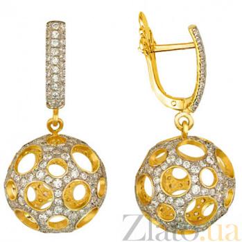 Серьги из желтого золота Эрида VLT--ТТ2257