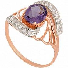 Золотое кольцо Вивиана с александритом и фианитами