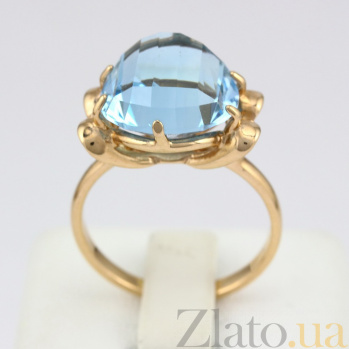 Золотое кольцо Самида с топазом VLN--112-1199-1