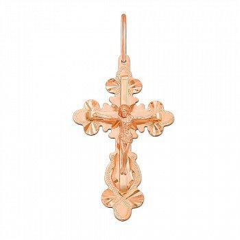 Крестик из красного золота 000129766