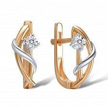 Серьги из золота с бриллиантами Чувство