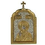Позолоченная серебряная икона Святого Николая Чудотворца