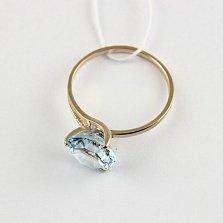 Кольцо из красного золота с топазом Селесте