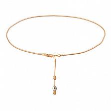 Золотой браслет на ногу Франческа