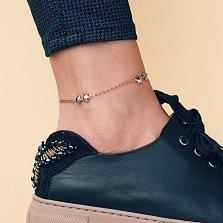 Золотой браслет на ногу Флоренция