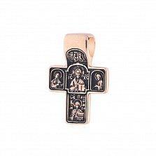 Золотой крест Святое Письмо с чернением