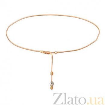 Золотой браслет на ногу Франческа 7146нб/в1
