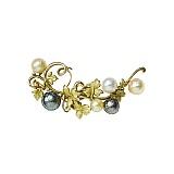Золотая брошь с жемчугом и бриллиантами Южный берег