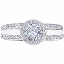 Золотое кольцо Прогулка в небесах с бриллиантами и эмалью